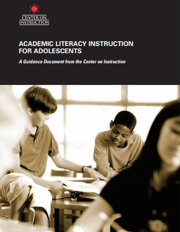 Academic Literacy Instruction for Adolescents