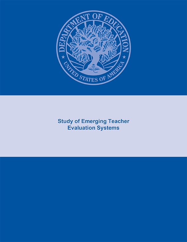 Study of Emerging Teacher Evaluation Systems