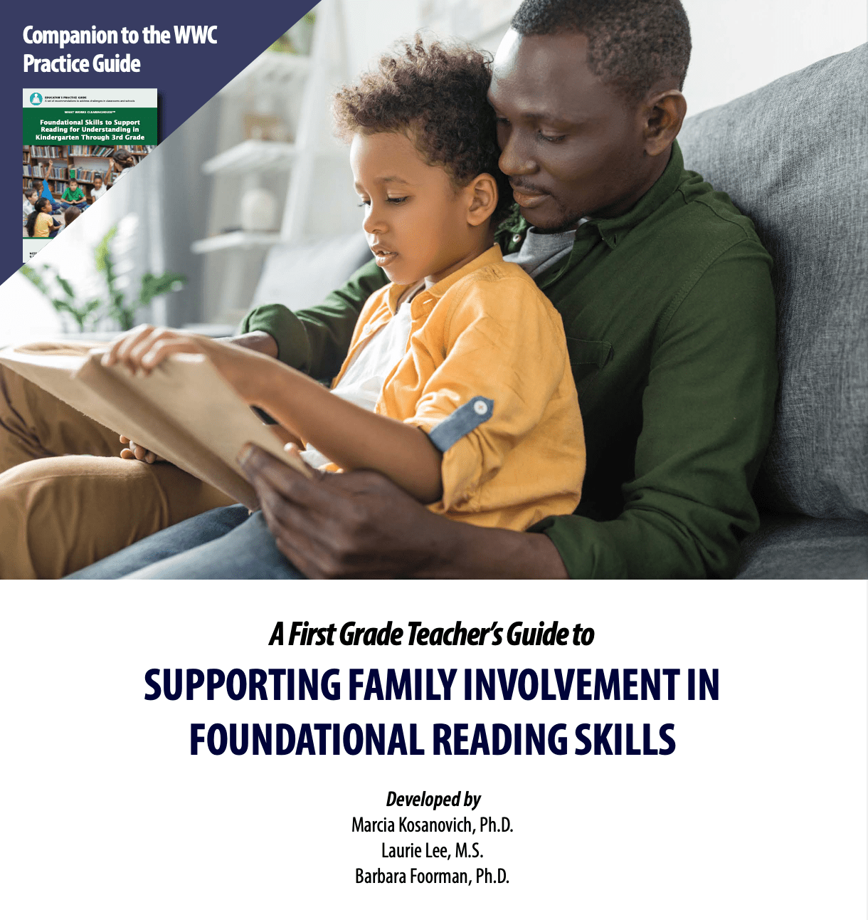 Resource cover with photo of father reading to child