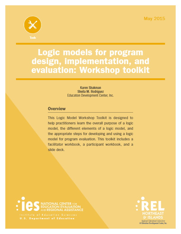 Logic models for program design, implementation, and evaluation: Workshop toolkit